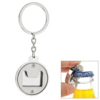 Creative Portable Zinc Alloy Keyring Keychain w/ Bottle Opener - Silver