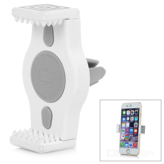 360' Rotation Car Air Outlet Mount Holder for Cellphone / GPS - White