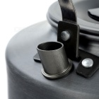 1.1L Aluminum Portable Camping Water Kettle Teapot Coffee Pot - Black