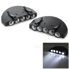 Outdoor Fishing 5-LED White Light 2-Mode Hat Cap Lamps - Black (2PCS)