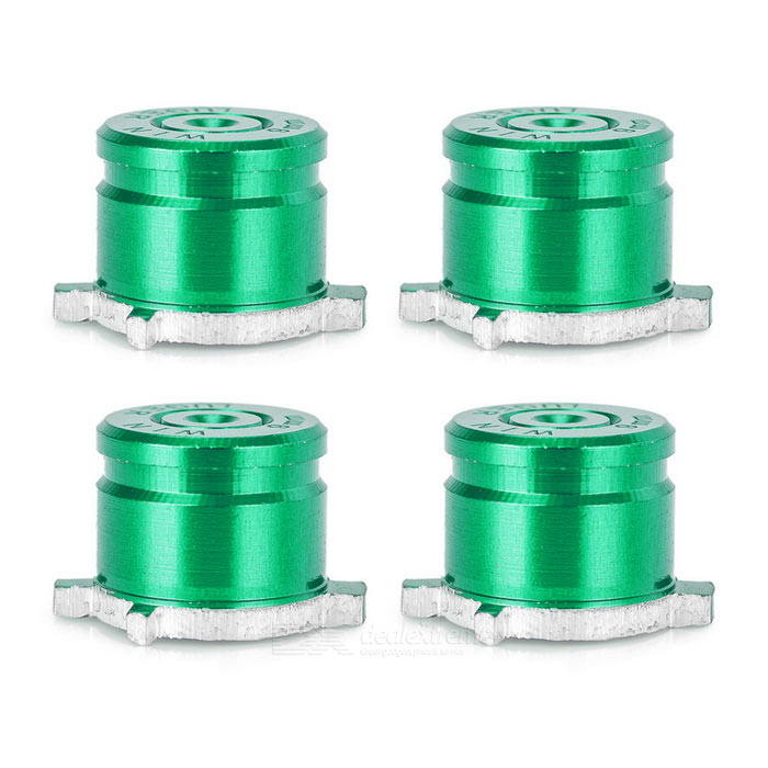 4-in-1 Universal Aluminum Buttons Keys for PS3, PS4, PS3 Slim - Green