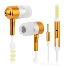 Stylish 3.5mm Zipper-Cable Design Glow-in-the-Dark In-Ear Earphones for IPHONE + More - Golden