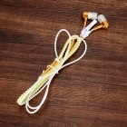 rits-kabel ontwerp 3.5mm glow-in-the-dark in-ear oordopjes - golden