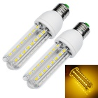 JIAWEN E27 12W LED Light Lamp Warm White 960lm 3200K 48-5730 SMD - White (AC100~265V / 2 PCS)