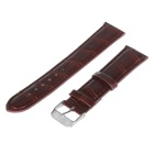 Repairment 20mm Durable PU Watch Band Strap w/ Pin Buckle - Coffee