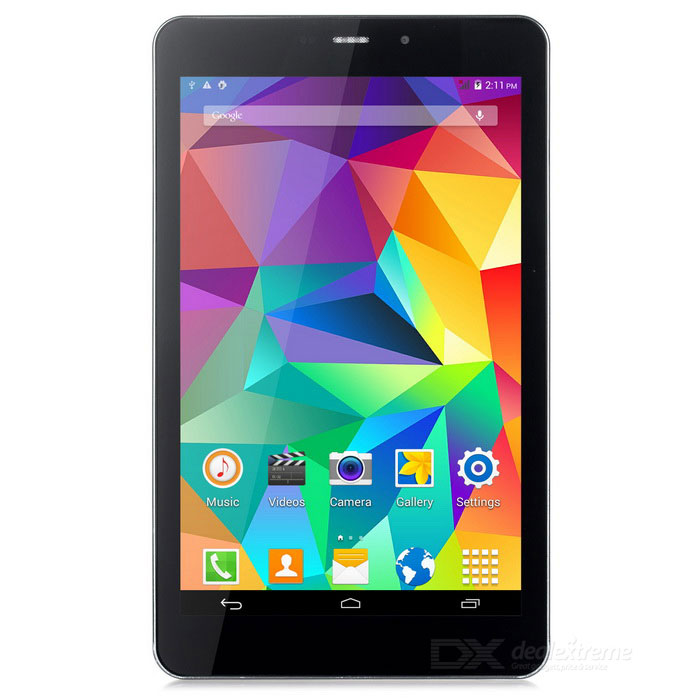 "7"" quad-core android 3G tablett w / 512MB, 8 GB ROM - svart + grå"