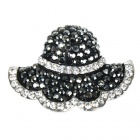 Grey Rhinestone Hat Society Brooch Pin
