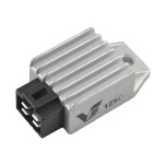 Universal Motorcycle 12V Voltage Regulator Rectifier - Black + Silver