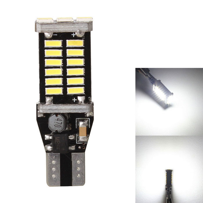 MZ T15 6W LED de coches de copia de seguridad de la lámpara blanco 900lm 30-SMD Decoded Error-Free