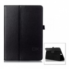 Protective Flip-Open PU Case w/ Stand for Samsung Galaxy T350 - Black