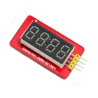 Jtron 2-Line Interface 4-Digit Digital Tube Display Module for Arduino - Red