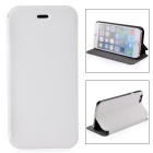 Durable Protective Flip-Open PU Leather Case w/ Stand for IPHONE 6 - White