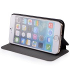 Durable Flip-Open PU Leather Case w/ Stand for IPHONE 6 - White