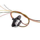 Capsule Slip Ring 6 Wires 2A Per Circuit 240V Diameter 22mm for Medical Equipment, CCTV Monitoring