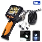 "Teslong NTS200 3.5"" LCD Inspection Camera 1W LED 8.2mm Borescope Endoscope - Black + Yellow (5M)"