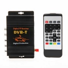 DVB-T MPEG-4 Video Single Tuner Car Digital TV Receiver Set w/ Remote / Set-top Box - Black