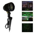 130mW Red + Green Light Starry Pattern Outdoor Laser Lawn / Landscape w/ Remote Control - Black