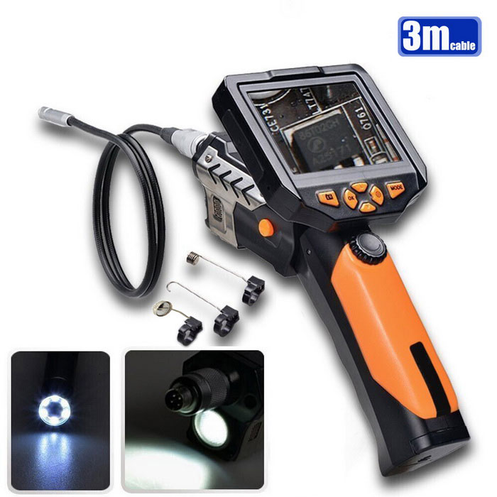 Teslong NTS200 3.5 LCD Inspection Camera 1W LED 8.2mm Borescope (3m)Microscopes &amp; Endoscope<br>Snake Cable Length3MModelNTS200Quantity1 DX.PCM.Model.AttributeModel.UnitForm ColorBlack + YellowMaterialPlastic shellCamera Pixels0.3MPCompatible OSXP VISTA WIN7 WIN8 Mac OSX10.4Camera head outer diameter8.2MMLED Bulb Qty6Other FeaturesResolution: 320 * 240 pixels (QVGA)<br>Image rotation: turn 360 ° picture<br>video resolution: 320*240,640*480,1280*720(Pixels)<br>Photo resolution: 640*480,1600*1200,2048*1536(Pixels)<br>menu language: English, German, Chinese, Spanish, French, Russian and Japanese<br>Port: the screen separation of remote control port<br>AV output interface USB port<br>TF card slot<br>Camera diameter: 8.2 mm<br>hose diameter: 7.0 mm<br>Resolution: 300000 pixels<br>Visual Angle: 60 °<br>Focusing range: 80 mm - infinity<br>Auxiliary lighting: six adjustable brightness leds<br>CREE LED flashlight: 1 w leds<br>Working temperature: 32  - 113  (0  - 45 )CertificationCE ROSHPacking List1 x NTS200 host (4 x AA batteries)1 x English user manual1 x Camera hose (3m)1 x Small magnet1 x Small hooks1 x Mirror1 x Screen separation cable (120cm)1 x Video output cable (150cm)1 x USB cable (80cm)<br>