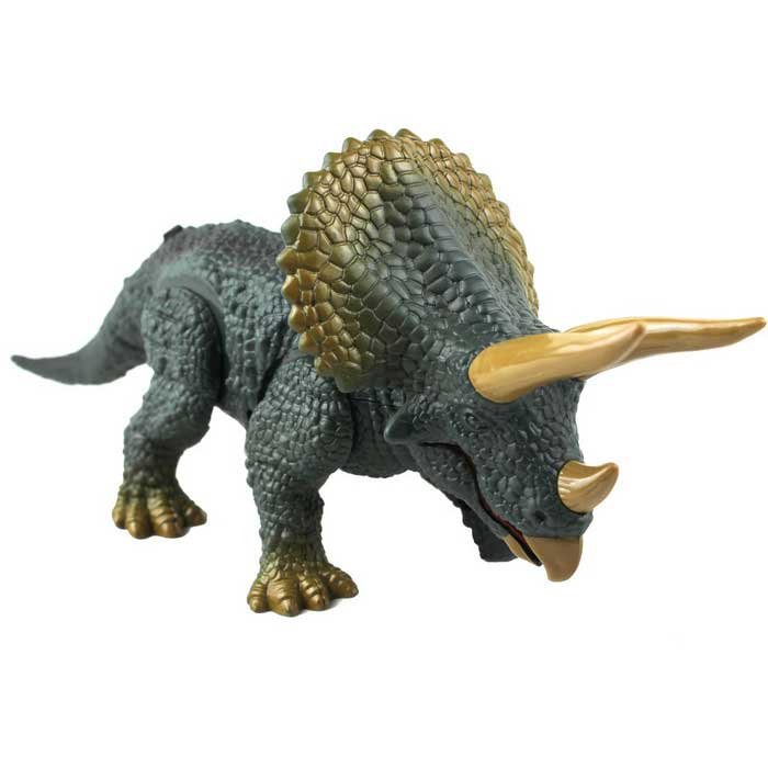 Infrared Ray Remote Control Simulation Triceratops Model Toy - Green