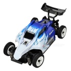WLtoys K979 1:28 Scale 4-CH Electric R/C Four-Wheel Drive Off-Road Vehicle Car Model - White + Blue