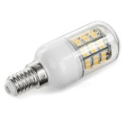 E14 6W 300lm Warm White Light 60-SMD 3528 LED Bulb (5PCS / AC 220V)