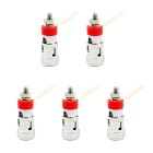 Jtron Spring Terminal Positive Locking Female Connector Press Type Terminal - Silver + Red (5 PCS)