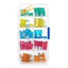 50-in-1 ABS Fuse Set - Transparent + Silver + Multicolor (12~24V)