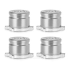 4-in-1 Aluminum Buttons Keys for PS3, PS4, PS3 Slim - Silvery White