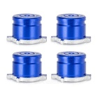 4-in-1 Aluminum Buttons Keys for PS3 / PS4 / PS3 Slim - Deep Blue