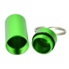 Outdoor Pill Tablet Storage Case Keychain - Green (2PCS)