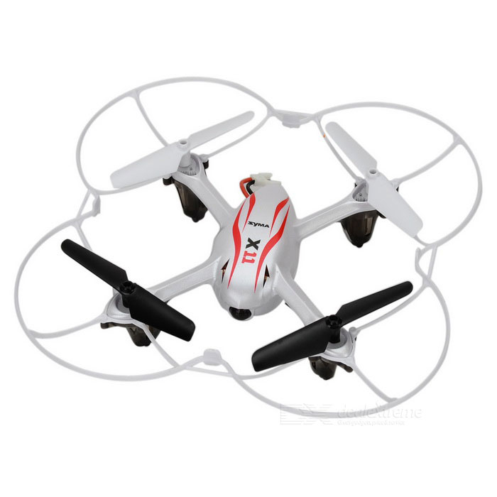 SYMA X11 4-CH 2.4GHz Radio Control Quadcopter Aircraft w/ 6-Axis Gyro / LED Lamp - Fluorescent White(SKU 389035)