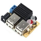DC Connector 9~15V to 5V 5A 4-USB Power Supply Charging Module for Phone / GPS / Car DVR