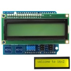 I2C LCD 1602 Shield Display Module w/ Touch Keys / Yellow-Green Backlight for Arduino UNO / Mega2560