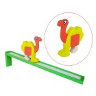 Wooden Ostrich Slide Educational Toy - Orange + Yellow