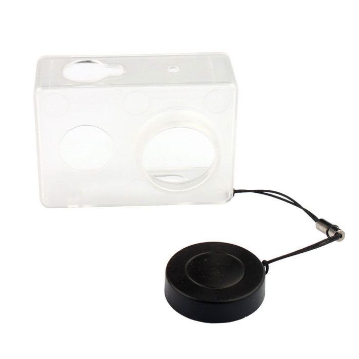 PANNOVO Plastic Case + Lens Cap for Xiaomi Xiaoyi - Transparent