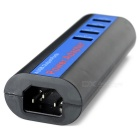 4-Port USB 2.0 Hub / Power Adapter - Black + Deep Blue (US Plugs)