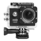1080P Full HD 170 Degree 12MP 30fps Sports DV Action Waterproof Camera - Black