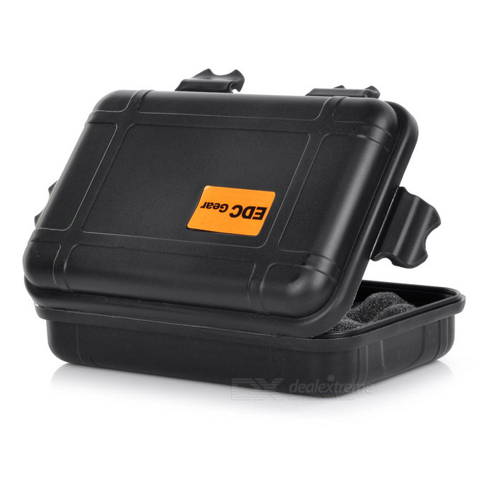 Edcgear Outdoor Camping Waterproof Abs Sealing Storage Box Black Free Shipping Dealextreme
