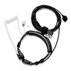 Cwxuan Adjustable Air Duct Noise-Reduction Anti-Radiation K-Connector Headset for Walkie Talkie