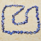 Long Natural Mother of Pearl Necklace (London Blue)
