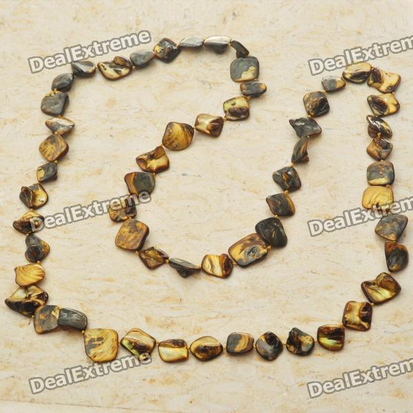 Long Natural Mother of Pearl Necklace (Tiger Eye Color) original for dell poweredge r310 r415 front control panel board 097ttt cn 097ttt 97ttt 100% test ok