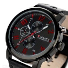 CURREN 8192 Men's PU Band Quartz Analog Wrist Watch - Black (1*626)