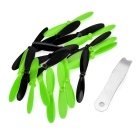 Replacement Quadcopter Blades for Hubsan X4 H107L - Black + Green