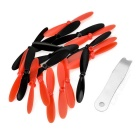 Replacement Quadcopter Blades Propellers for Hubsan X4 - Black + Red