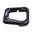 Portable Outdoor Sports PVC D-Ring Locking Carabiners - Black (4PCS)