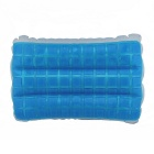 Silica Gel Double-Temperature Cool Pillow - White + Blue