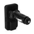 "301E 0.85"" LCD Hands-Free Car FM Transmitter w/ TF / USB - Black"