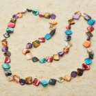Long Natural Mother of Pearl Necklace (Multicolor)