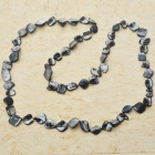 Long Natural Mother of Pearl Necklace (Black)