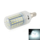 WaLangTing E14 7W LED Corn Bulb Lamp Cool White Light 7000K 500lm 72-SMD 5730 - White (110~240V)